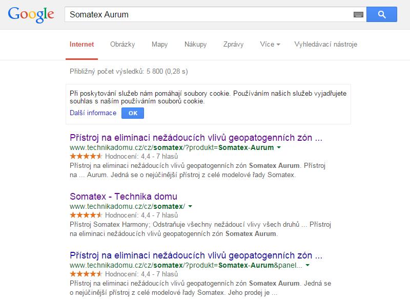 Online Rating - výsledky Somatex Aurum